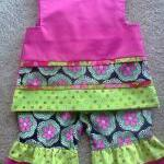 Fuchsia Ruffle Pants And S..